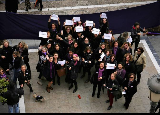 Las periodistas de Jerez se suman a la huelga feminista del 8M