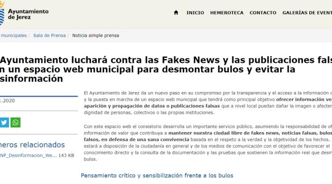 La APJ y el CPPA rechazan y muestran su preocupación por el anuncio de la creación de una 'web' gestionada y controlada por el Ayuntamiento de Jerez para combatir la desinformación